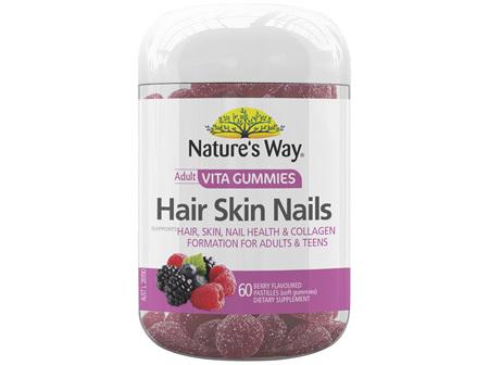 Nature's Way Adult Vita Gummies Hair Skin Nails 60's
