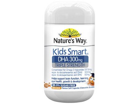 Nature's Way Kids Smart DHA 300mg Triple Strength 50's