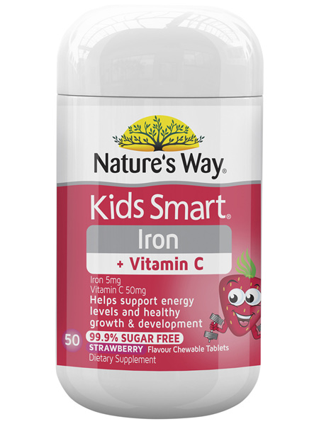 Nature's Way Kids Smart Iron + Vitamin C 50 Tablets