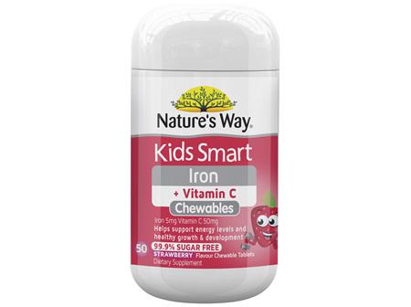 Nature's Way Kids Smart Iron + Vitamin C Chewable 50's