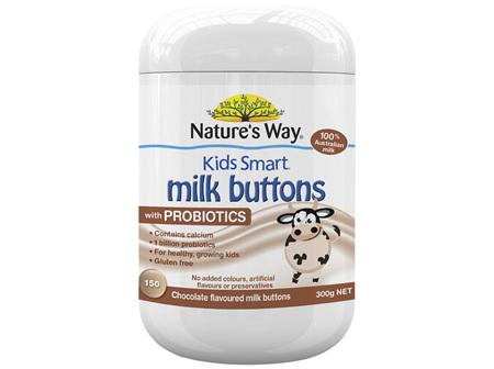 Nature's Way Kids Smart Milk Buttons Probiotic Chocolate 150s