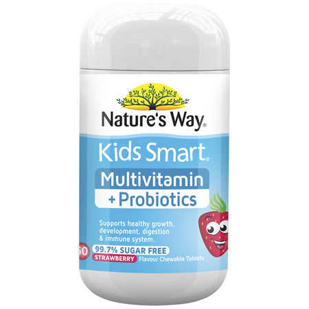 Nature's Way Kids Smart Multivitamin + Probiotics Chewables 50's