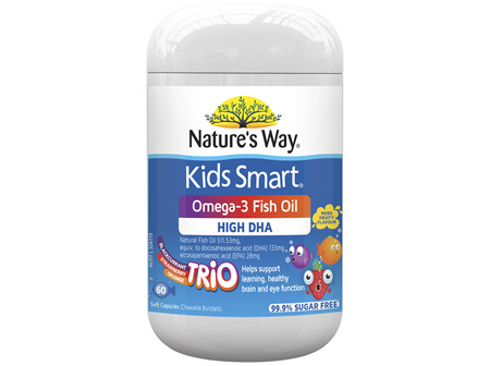 Nature's Way Kids Smart Omega-3 Fish Oil Trio 60S