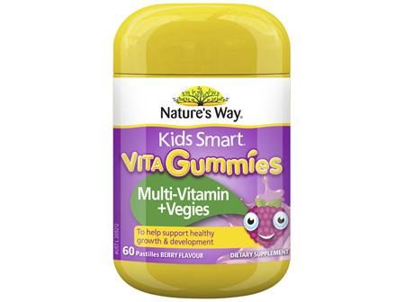 Nature's Way Kids Smart Vita Gummies Multi-Vitamin + Vegies 60's
