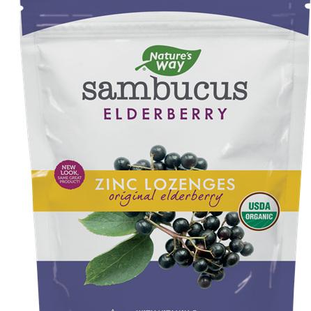 NATURES WAY Original Sambucus Zinc 24Loz