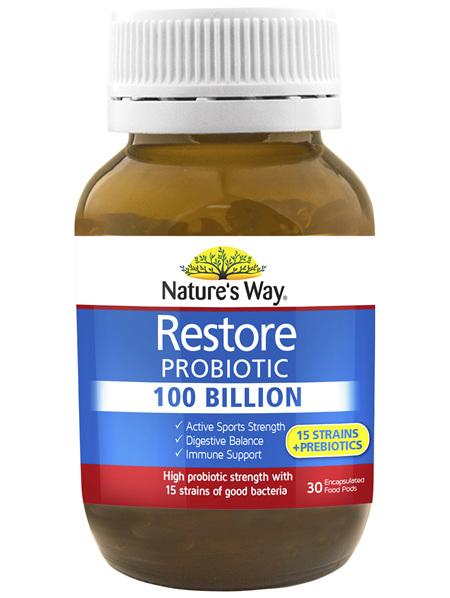 Nature's Way RESTORE PROBIOTIC 100 BILLION 30s