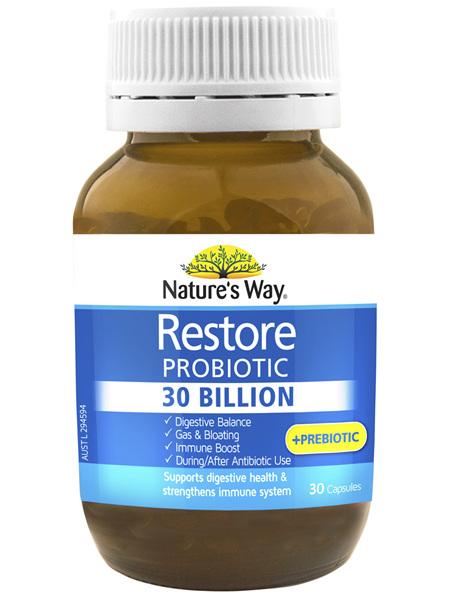 Nature's Way Restore Probiotic 30 Billion 30s