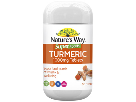 Nature's Way  SUPERFOODS TURMERIC TABS 1000mg 60s