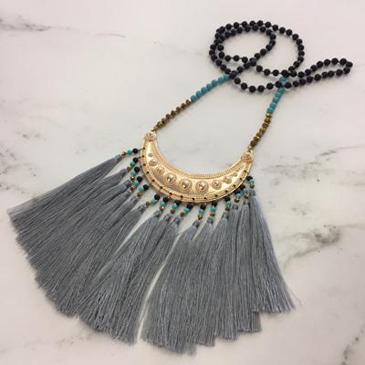 Navajo Tassel Necklace - Silver