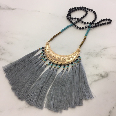 Navajo Tassel Necklace - Silver WAS $69.90