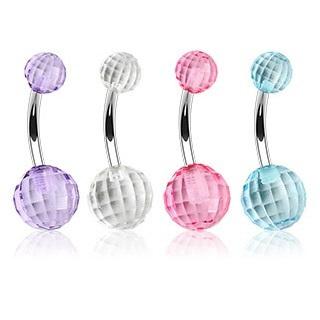 Navel Ring w/ Pastel Disco Ball