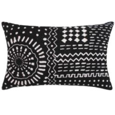 Navha Cushion - Black/White 35x55cm