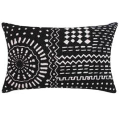 Navha Cushion - Black/White 35x55cm