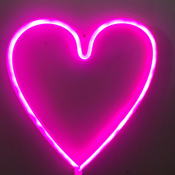 Neon Light - Heart (Battery)