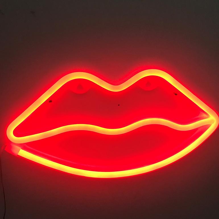 Neon Light - Kissy Lips (Battery)