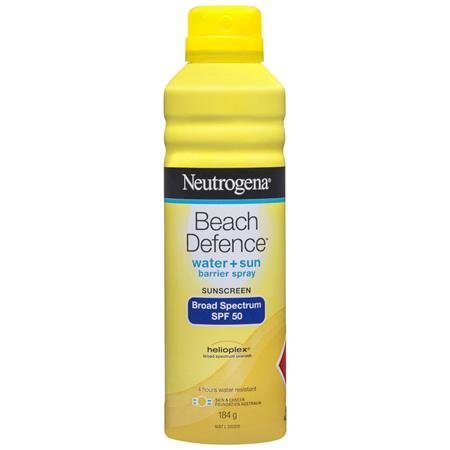 Neutrogena Beach Defence SPF 50 Sun + Water Sunscreen Spray 184g
