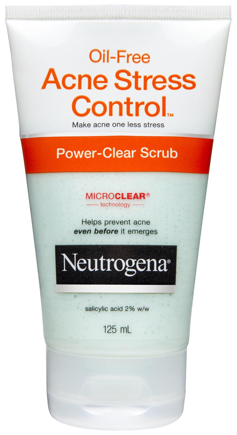 Neutrogena Oil-Free Acne Stress Control Power-Clear Scrub 125 mL
