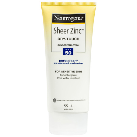 Neutrogena Sheer Zinc Dry-Touch Sunscreen Lotion SPF 50 88mL