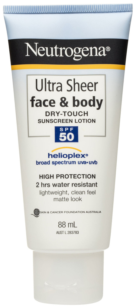 Neutrogena Ultra Sheer Face & Body Dry Touch Sunscreen Lotion SPF 50 88mL