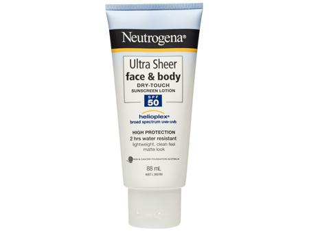 Neutrogena Ultra Sheer Face & Body Dry Touch Sunscreen Lotion SPF 50 88mL