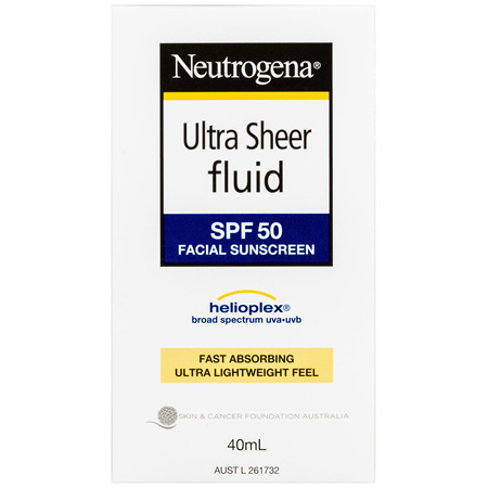 Neutrogena Ultra Sheer Fluid Face Sunscreen SPF 50 40mL