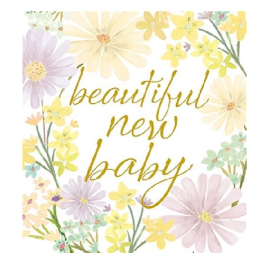 New baby greeting card vintage love homeware gifts new baby greeting card m4hsunfo