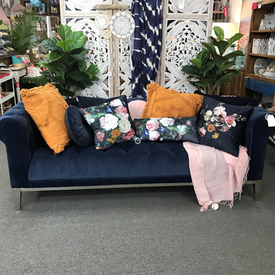 New Yorker 3 Seater Chesterfield Sofa - Royal Blue