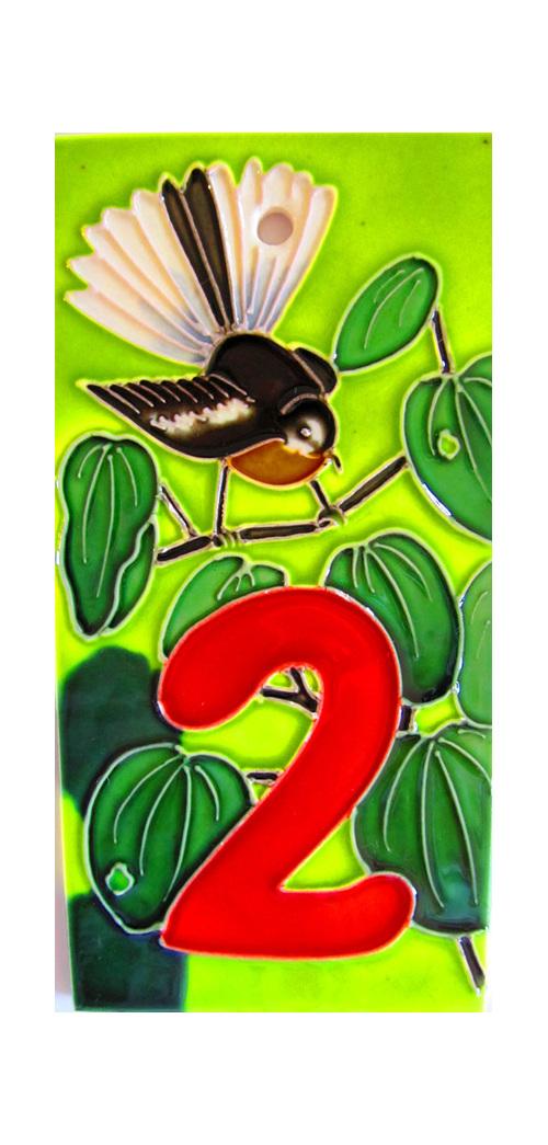 New Zealand Ceramic Number Tiles
