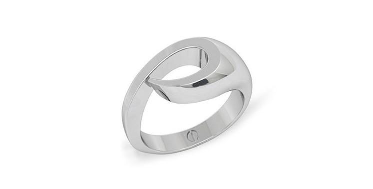 New Zealand koru inspired modern men's palladium or platinum wedding ring