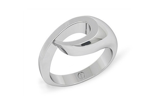 New Zealand koru inspired modern men's palladium or platinum wedding ring