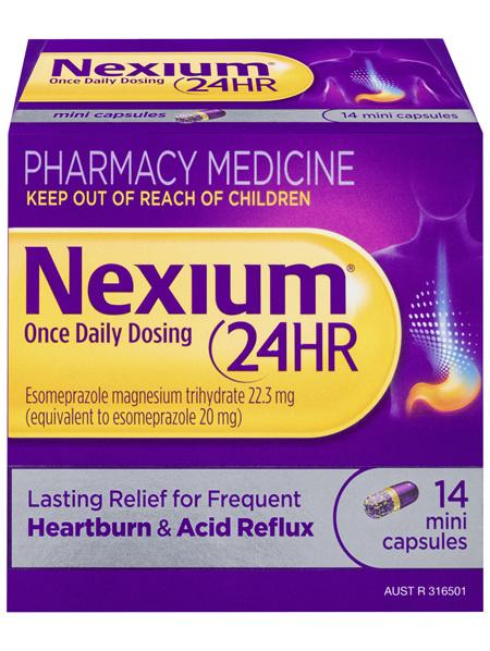 Nexium 24 Hour Once Daily Dosing 14 Mini Capsules