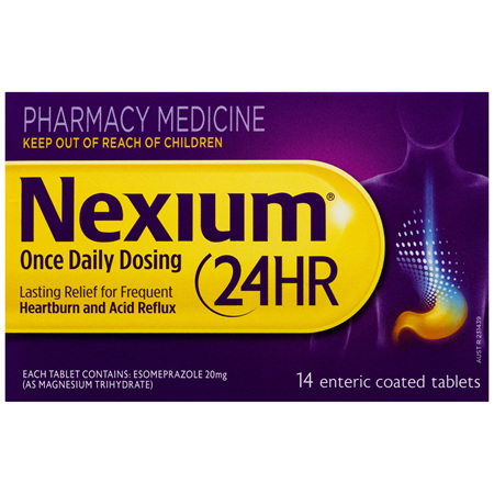 Nexium 24HR Once Daily Dosing Tablets 14 Pack