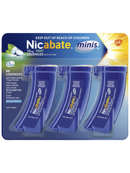 Nicabate Minis Quit Smoking 1.5 mg, 60 Lozenges