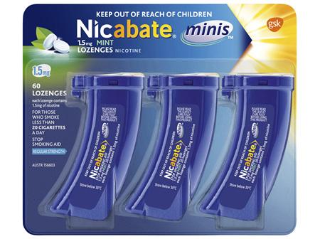 Nicabate Minis Quit Smoking 1.5 mg, 60 Lozenges
