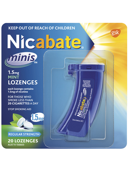 Nicabate Minis Quit Smoking Lozenge 1.5mg 20 pieces