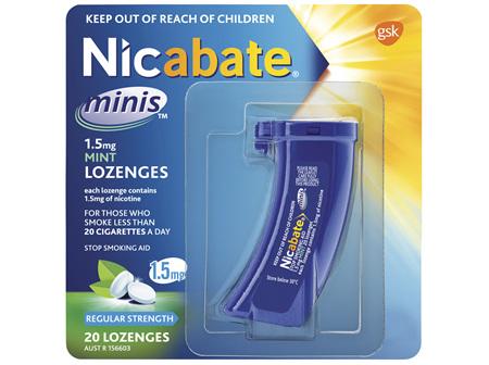 Nicabate Minis Quit Smoking Lozenge 1.5mg 20 pieces