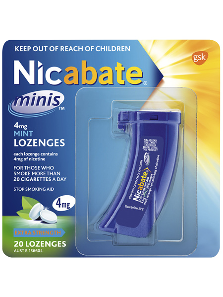 Nicabate Minis Quit Smoking lozenge 4 mg 20 pieces