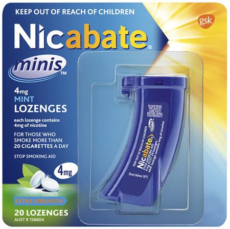 Nicabate Minis Quit Smoking lozenge 4 mg 20 pieces