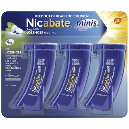 Nicabate Minis Quit Smoking lozenge 4 mg 60 pieces
