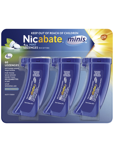 Nicabate Minis Quit Smoking lozenge 4 mg 60 pieces