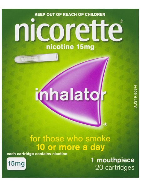 Nicorette Quit Smoking Inhalator 15mg 20 Pack