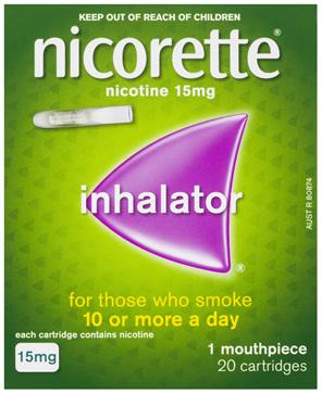 Nicorette Quit Smoking Inhalator 15mg 20 Pack