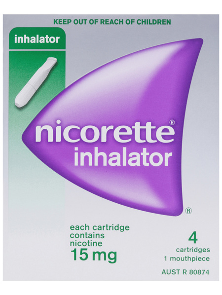Nicorette Quit Smoking Inhalator 15mg 4 Pack