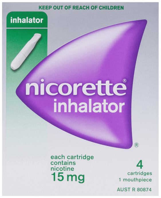 Nicorette Quit Smoking Inhalator 15mg 4 Pack