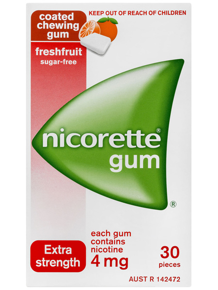 Nicorette Quit Smoking Nicotine Gum Freshfruit Extra Strength 30 Pack