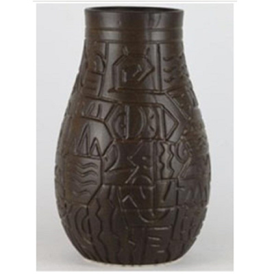 Nile Ceramic Vase - Black - Large