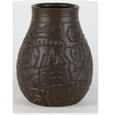 Nile Ceramic Vase - Black -Small