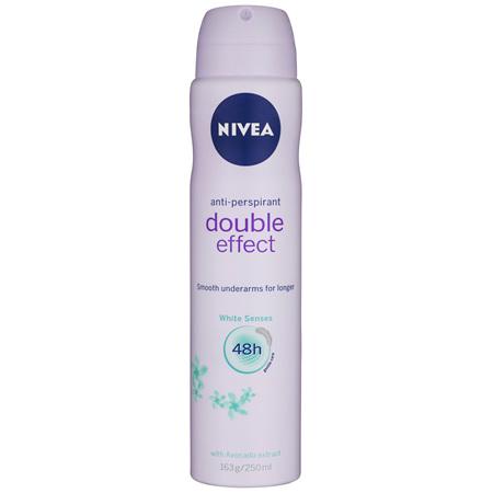 NIVEA Double Effect White Senses Aerosol 250ml