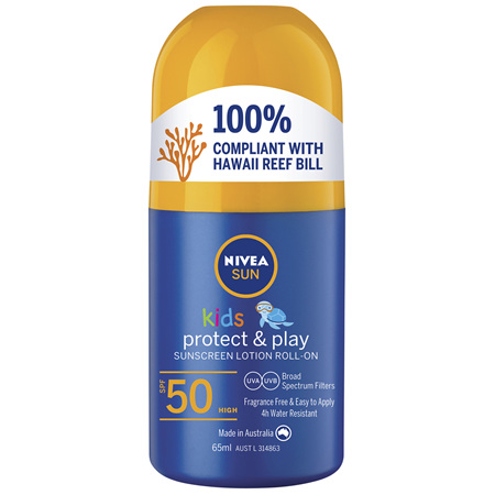 NIVEA Kids Caring Roll On Sun Lotion SPF50 65ml