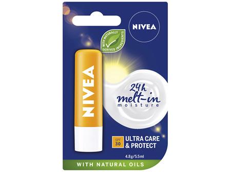 NIVEA Lip Care Ultra Care & Protect SPF30 Caring Lip Balm 4.8g